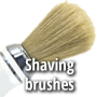 Shaving brushes, boar, badger bristle