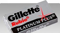 buy Gillette Rubie Platinum Plus Double Edge Classic Safety Razor Blades