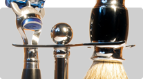 Gift set shaving brush, Fusion razor, shaving stand Frank Shaving, Parker buy
