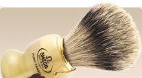 Omega Badger 621 Silvertip buy Italian shaving brush with Badger bristles